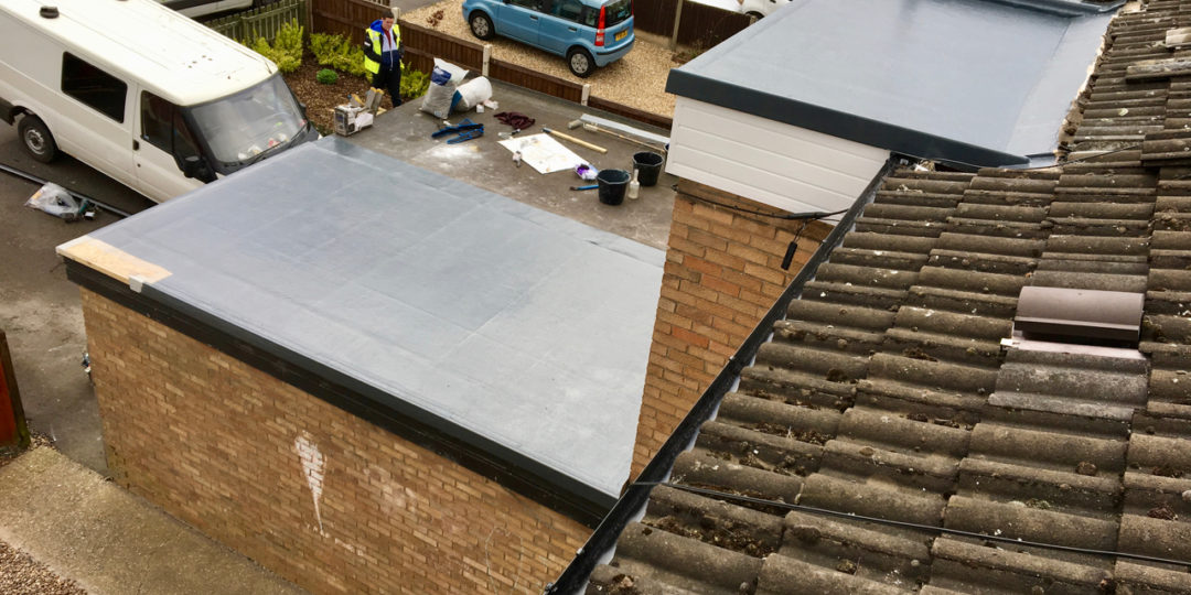 GRP Flat Roof, Fascias and Guttering in Gainsborough